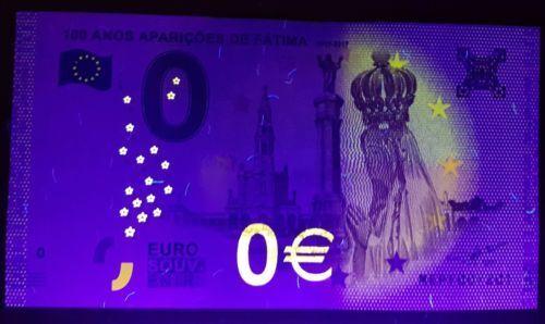 Guimaraes Castelo Sao Jorge Fatima Portugal Set of 3 0 Euro Souvenir Notes