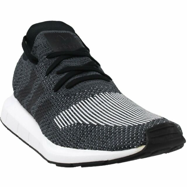 76e6e13efde91 adidas Swift Run Primeknit Shoes Men s Core Black   Grey 9 for sale ...