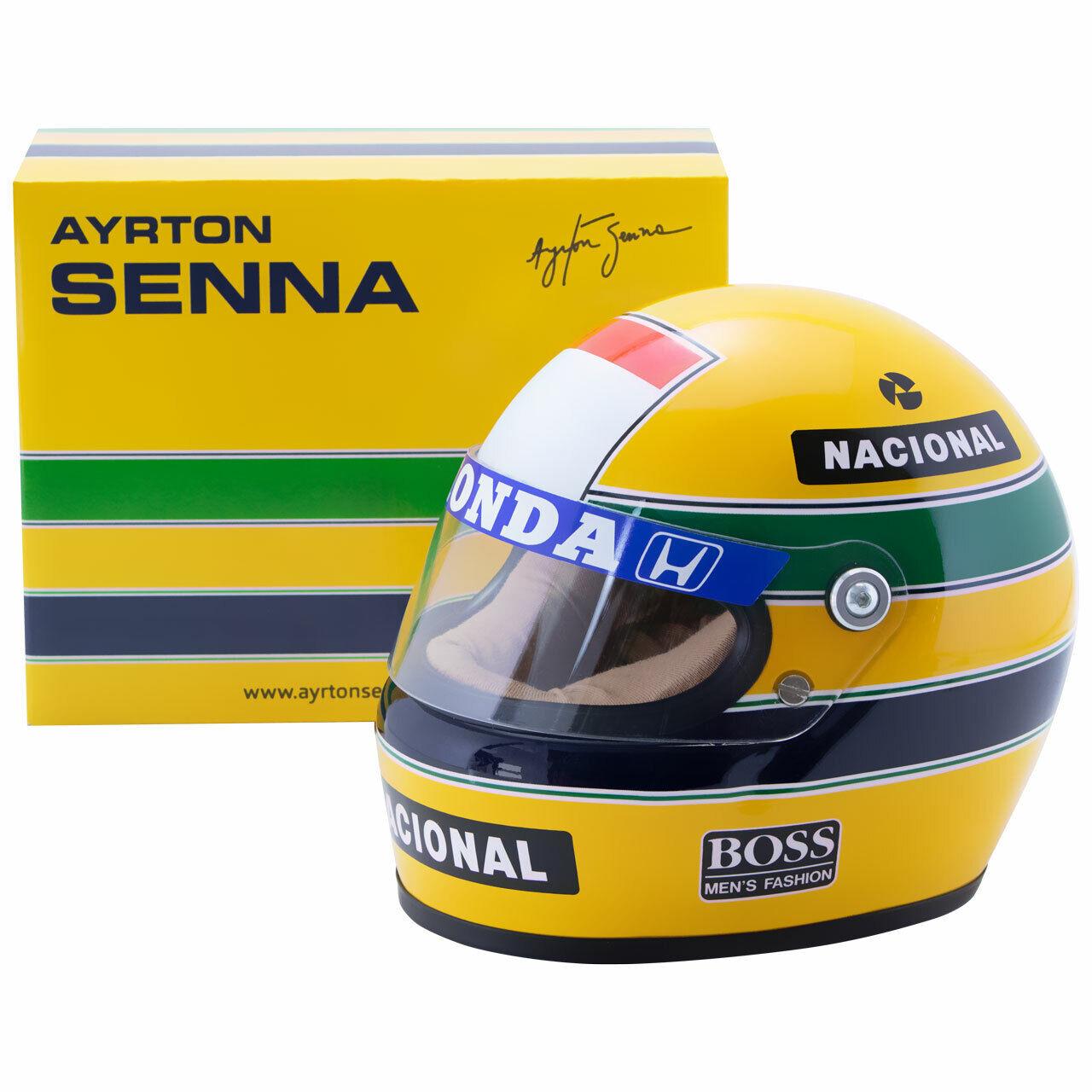Tête casquée Miniature Casque ayrton senna f1 World Champion  1988 Half Scale 1 2 neuf neuf dans sa boîte  nous fournissons le meilleur