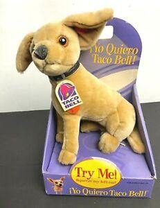VTG Taco Bell Chihuahua NIB Talking Plush Dog Doll 90s Figure 🔥