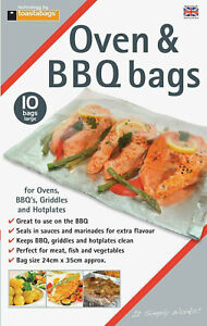 20-x-Toastabags-Oven-amp-BBQ-Bags-Hotplate-Griddles-Meat-Fish-and-Veg-24cm-x-35cm