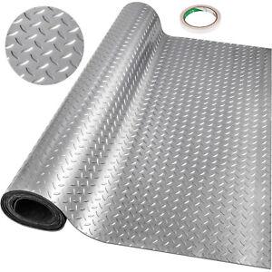 Garage-Flooring-Mats-Roll-PVC-Flooring-Raised-Mat-Trailer-Floor-Covering-Diamond