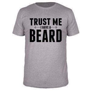 FABTEE Trust Me I Have A Beard Bart Vollbart Moustache Männer Fun Organic Shirt