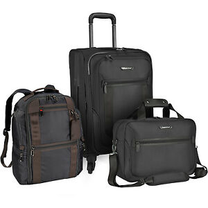 St Augustine 3pc Carry-on Nylon Expandable Spinner Backpack Tote ...