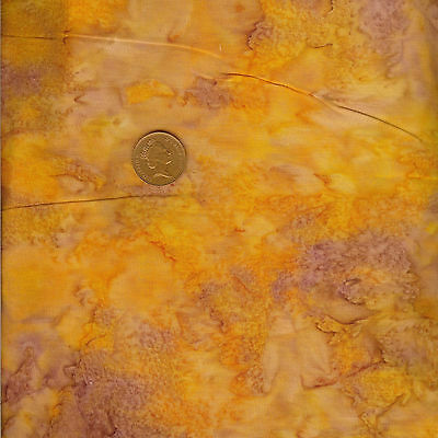 Princess Mirah Bali Batik ZA10 Golden Fern 530 Orange 100/% Cotton Fat Quarter