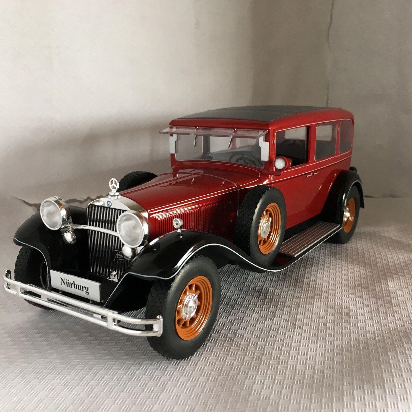 Mercedes tipo Nürburg 460 460 K rosso oscuro nero 1 18 microg nuevo con embalaje original mcg18032