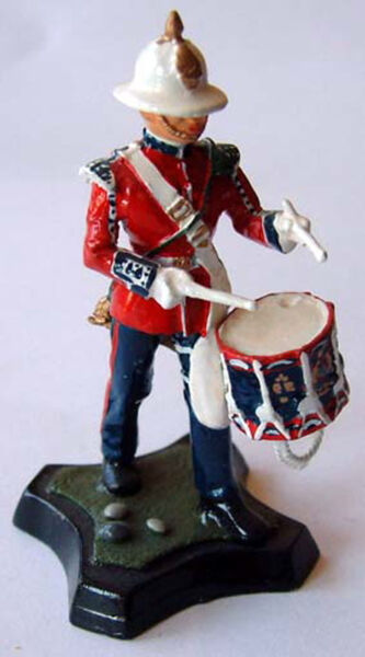 Affidabile Royal Marine Fanteria Leggera Drummer Non Colorato 54mm Giocattolo Soldato Kit Buona Reputazione Nel Mondo