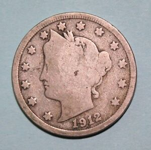 V 1902  US  Liberty Head nickel in  circulated  condition    Free Shipping