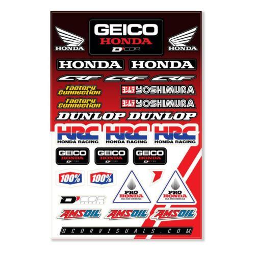 D COR GEICO FOR HONDA HRC DECAL SHEET GEICO FOR HONDA HRC DECAL 12MIL 40-10-115
