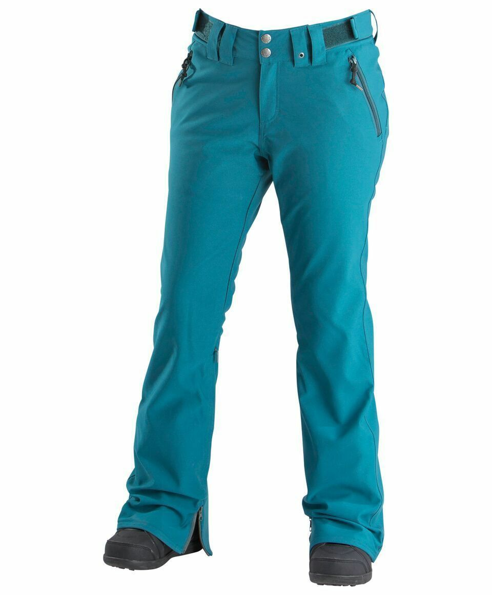 2019  NWT WOMENS AIRBLASTER STRETCH CURVE PANT  200 M bluee Coral slim snow  high-quality merchandise and convenient, honest service