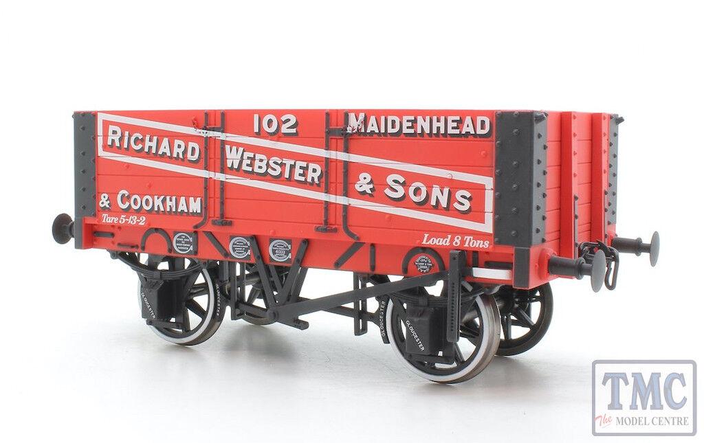 7F052002 Dapol O Gauge 5 Plank Wagon 9ft ruedabase Richard Webster & Sons 102