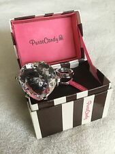 Purse Candy Keyring By Sicura Large Heart-Shaped Cocktail Ring BLING