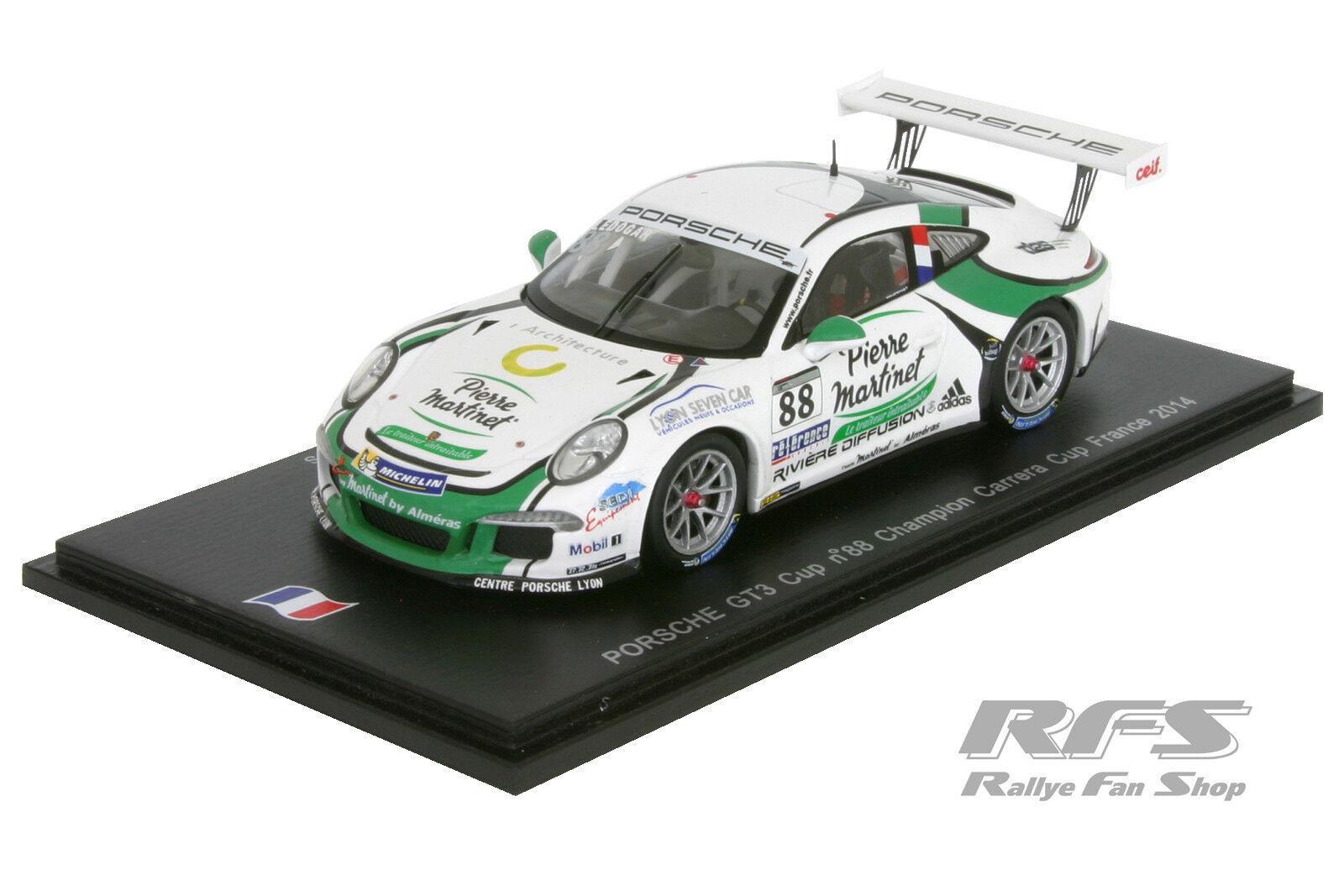 Porsche 911 gt3 Cup-ledogar-Carrera Cup francia 2014 - 1 43 Spark sf084