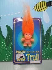 "1992 GOOD LUCK BUTTON PIN NEW Very Rare 2/"" Dam Norfin Troll"