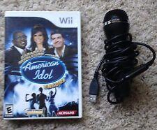 Wii American Idol Encore Karaoke Revolution Game & Microphone bundle