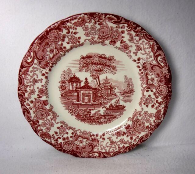 "LA CARTUJA DE SEVILLE Spain china 202 ROSA pattern Dinner Plate - 10"""
