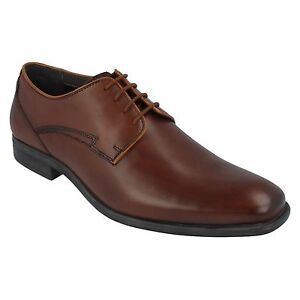 Mens Hush Puppies Kane Maddow Brown Leather Lace