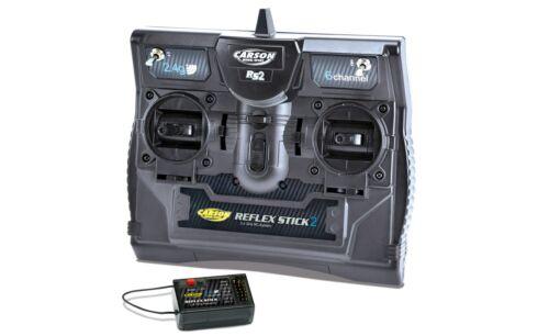 Carson 501006 Reflex Stick 2.4Ghz 6Ch radio récepteur pour Tamiya Trucks /& Tanks