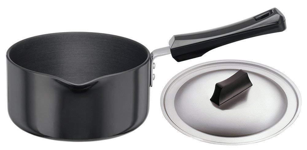 Hawkins Futura Hard Anodised Sauce Pan with Lid 1.5 Litres