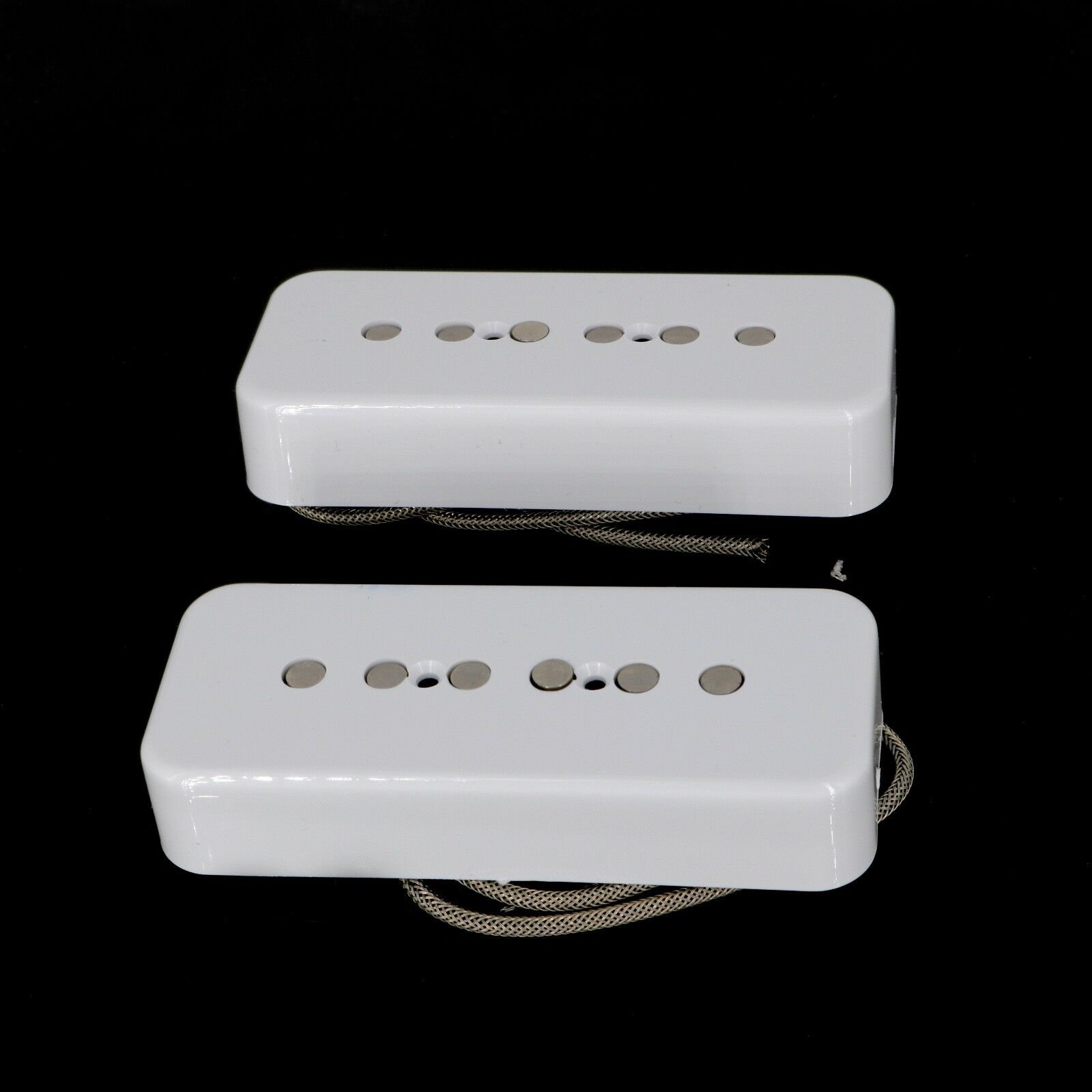 Lindy Fralin P90 Soapbar Pickups ALNICO Pole Pieces Weiß COVERS with -10% Neck