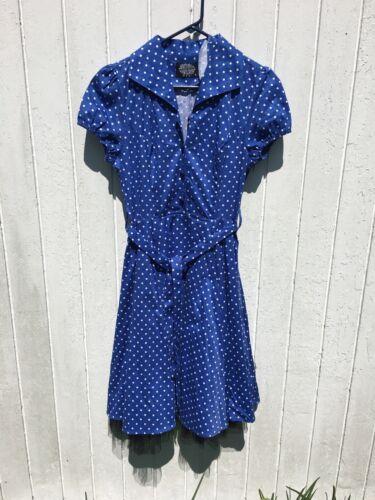 HEARTS & ROSES 40s 50s Pin Up Swing Dress Polka Do