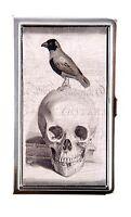 Kbd Id Card Case Skull Raven Crow Design Metal Card Case