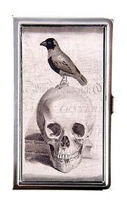 KBD-ID-Card-Case-Skull-Raven-Crow-Design-Metal-Card-Case