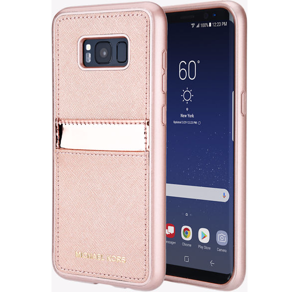 brand new 99311 0509a Samsung Galaxy S8 Plus Michael Kors Rose Gold Phone Case