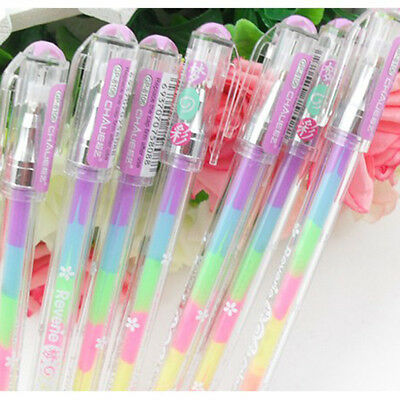 6 colors in 1 pen gel pens for Office Students Ink Pen chalk pen