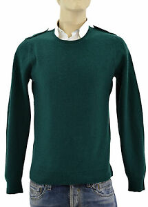 550-BURBERRY-BRIT-Green-Check-Homme-100-Laine-Pull-Taille-M-Nouvelle-collection