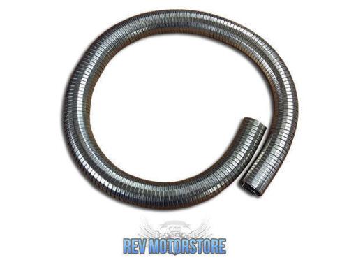 """2/"""" 50mm Universal riparazione di scarico flessibile Polylock Tubo di acciaio inossidabile 500mm"""