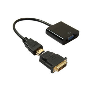 DVI-D-24-1Pin-Male-To-HDMI-To-VGA-15Pin-Female-Active-Converter-Cable-Adapter