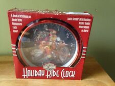 HARLEY DAVIDSON HOLIDAY RIDE CLOCK NIB 2007 JINGLE BELLS ANNOUNCES EACH HOUR