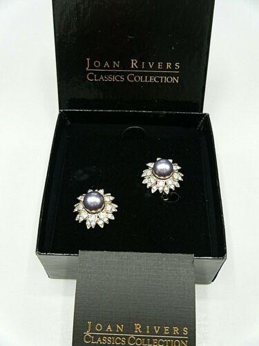 Collectible Vintage Joan Rivers Faux Black Pearl E