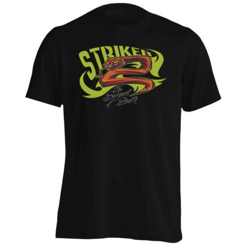 Striker Red Snake Serpent Stealth Green And Red Design Men/'s TShirt//Tank hh937m