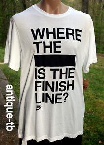 Finish Line Running T-Shirt Funny Novelty Mens tee TShirt