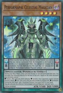 Performapal Celestial Magician NM -1st Ed. Super Rare LED6-EN045 Yu-Gi-Oh