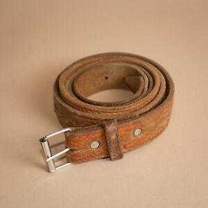 Unisexe-Marron-Unisexe-Jeans-en-cuir-ceinture-boucle-en-metal-Homme-Large-Femme-XLarge