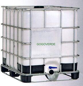 Cisterne Con Gabbia Metallica.Dettagli Su Cisterna Liquidi Gabbia Metallo Lt 1000 Con Valvola 2 Botte Contenitore Fusto