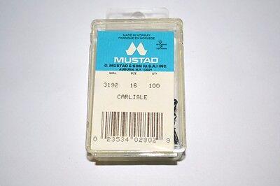New Mustad Carlisle Superior Point 3192 Fish Hooks Size 14 Box 50 Blue