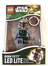 "LEGO STAR WARS BOBA FETT KEY-CHAIN LED TORCH BRAND NEW GREAT GIFT 3"""