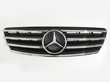 4 Fin CL Front Hood Sport Black Grill Grille For Mercedes Benz C W203 4Dr 01-07