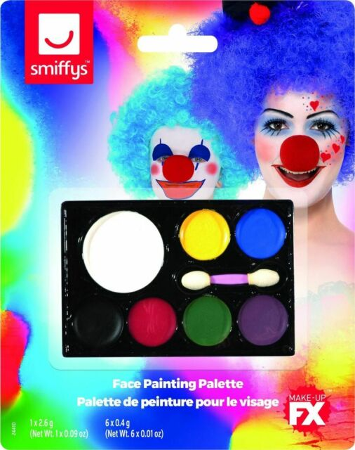 Fancy Dress Make Up 7 Colours Face Paint Palette by Smiffys