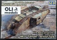 1/72 Wwi Mk Ii female British Tank Arras Battle 1917 - Master Box 72006