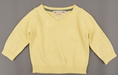 Lightweight Cotton Knit BONPOINT Baby Boys/' Yellow V-neck Jumper size 12 month