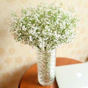 neu k nstliche gef lschte gypsophila seide blumen pflanzen dekoration ebay. Black Bedroom Furniture Sets. Home Design Ideas