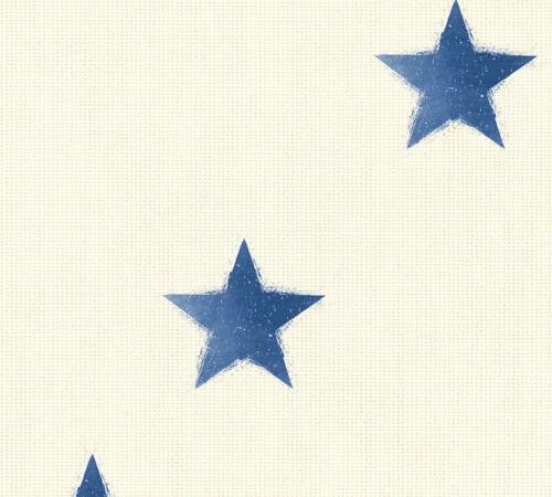 4,71£//1qm Wallpaper linen stars cream blue livingwalls Côte d/'Azur 35183-3