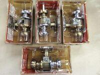 4 Vintage Schlage F40nv Bedroom/bath 2 3/8 Backset Bronze Chrome Combo 4 Units