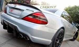 MB R230 SL350 SL500 SL550 SL55AMG Style Carbon Fiber Trunk Wing Spoiler SL63