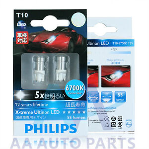 genuine philips t10 w5w 6700k x treme ultinon led car lamp. Black Bedroom Furniture Sets. Home Design Ideas